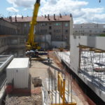 Construction site of the redevelopment of Le Consortium.