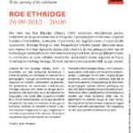 Roe Ethridge, 2012. M-Museum Leuven. Invitation card.