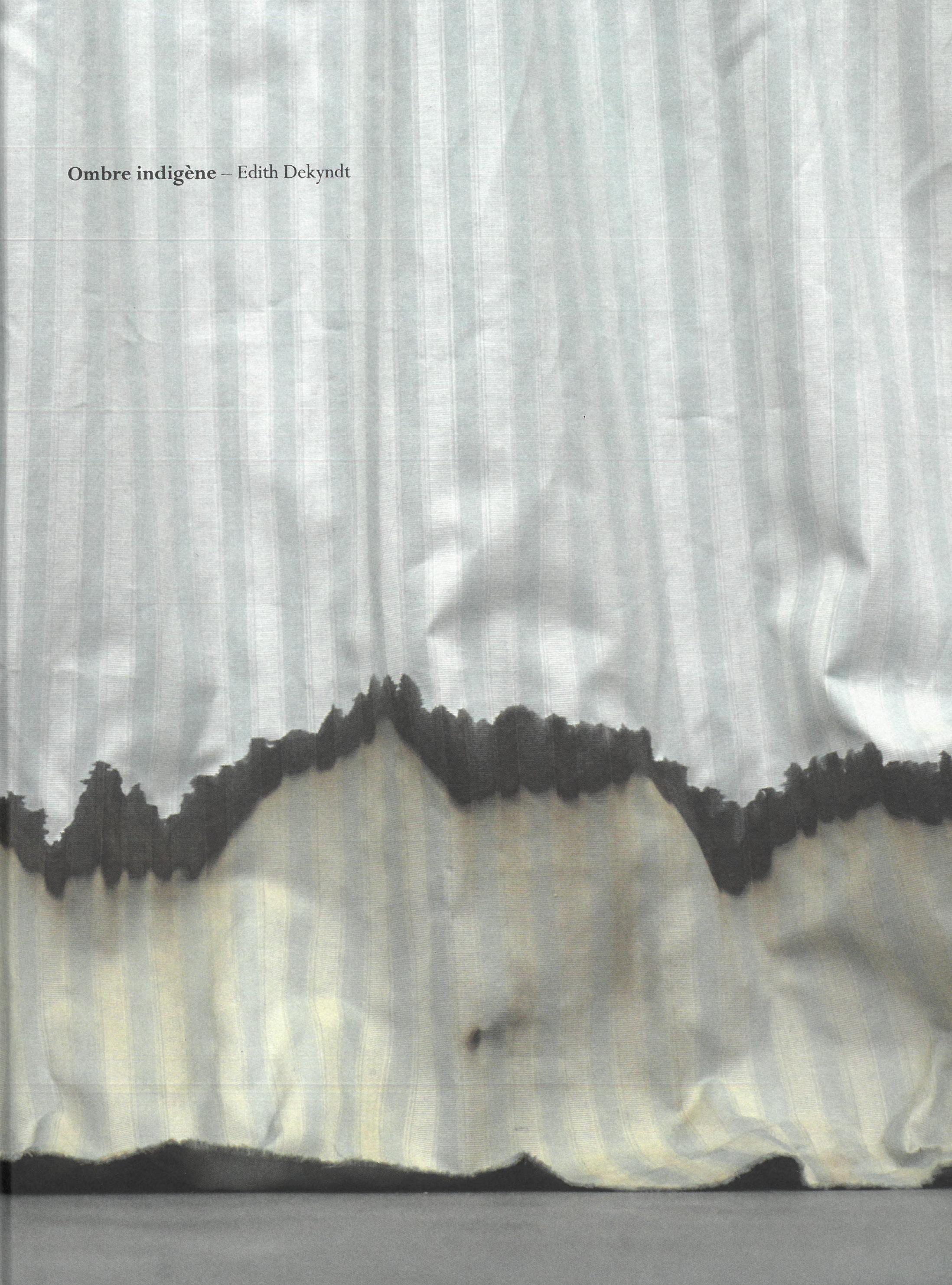 """Edith Dekyndt, """"Ombre Indigène"""". Cover. Dijon: Les Presses du Réel, 2016."""