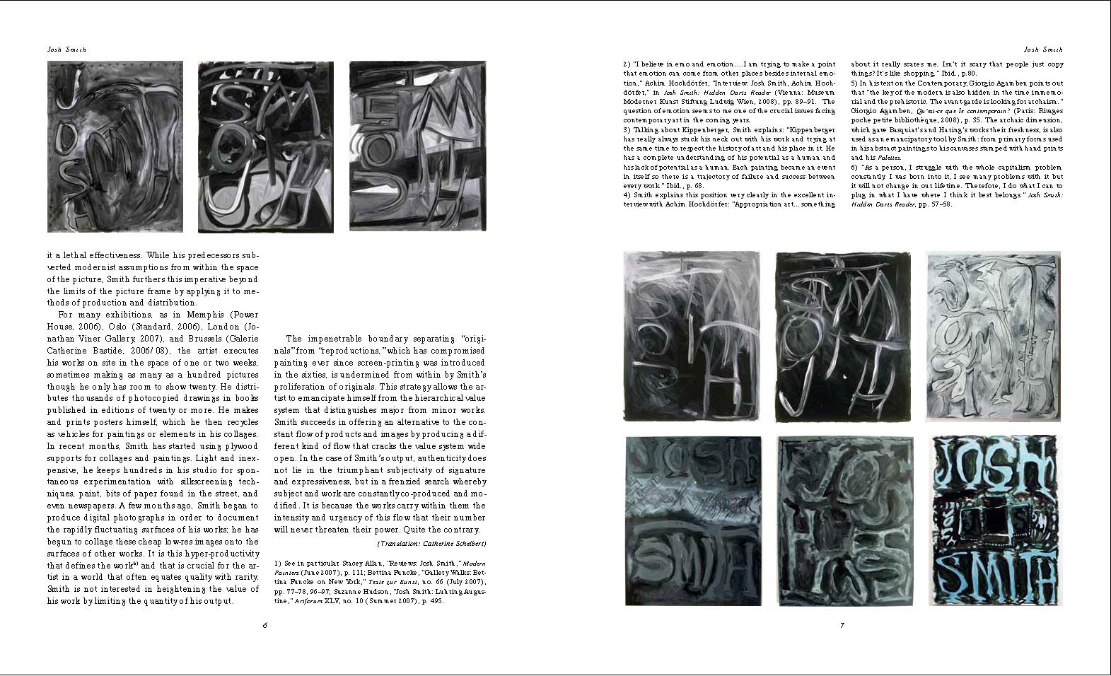 """Anne Pontégnie, """"Painter Without A Pause"""", Parkett 85 (2009), p.2-7."""