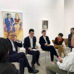 In conversation: Anne Pontegnie, Katy Chien & Mia Yu on Alice Neel & Pan Yuliang, Xavier Hufkens booth, West Bund Art Fair, 2019, Shanghai.
